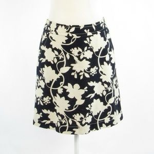 Black beige BANANA REPUBLIC A-line skirt 4